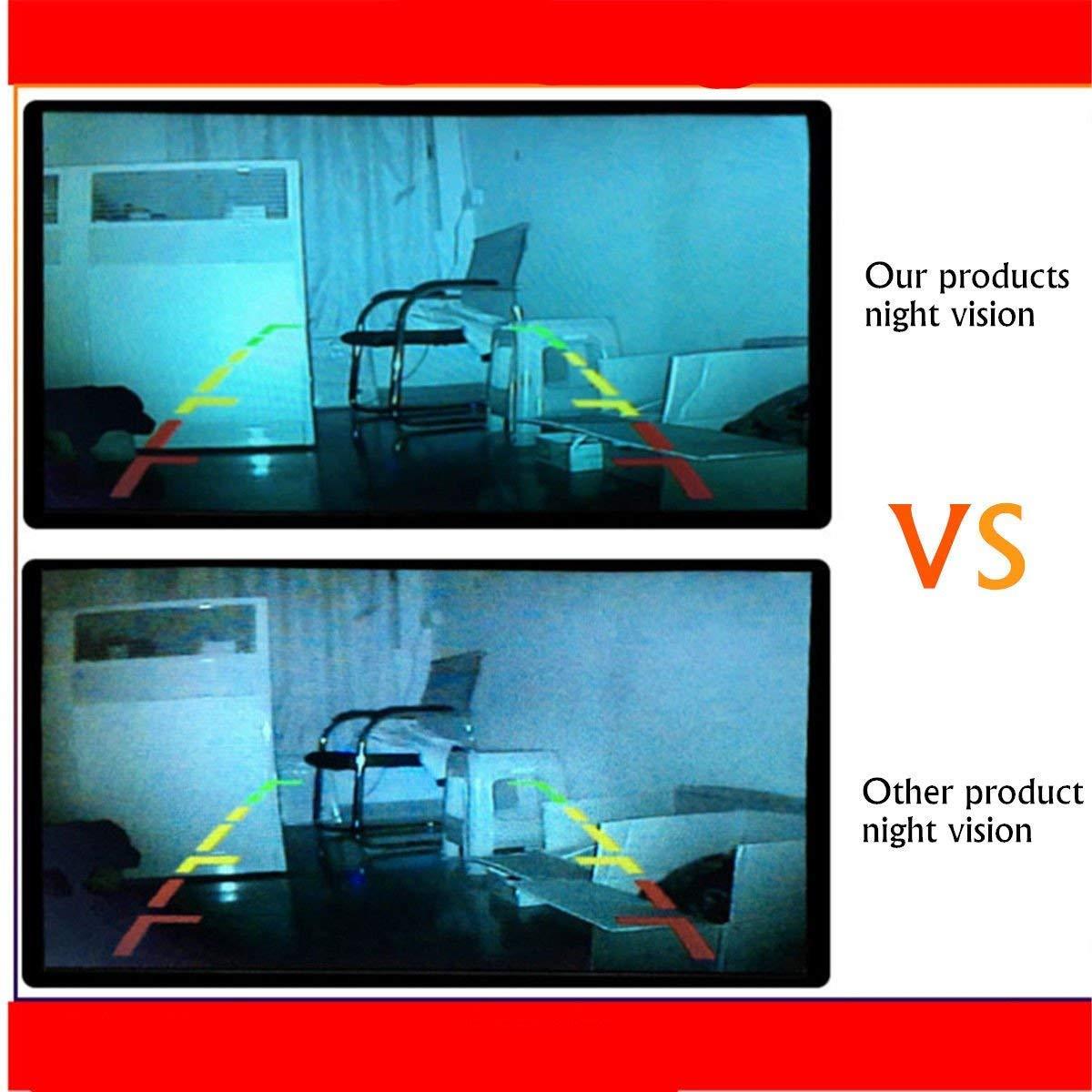 MASO Truck Rearview Sauvegarde Cam/éras avec c/âble DE 10/m /étanche 18/LED IR 170/degr/és 4/Broches Haute d/éfinition CCD v/éhicule Cam/éra de recul pour Voiture R/ésistant Van Remorque B
