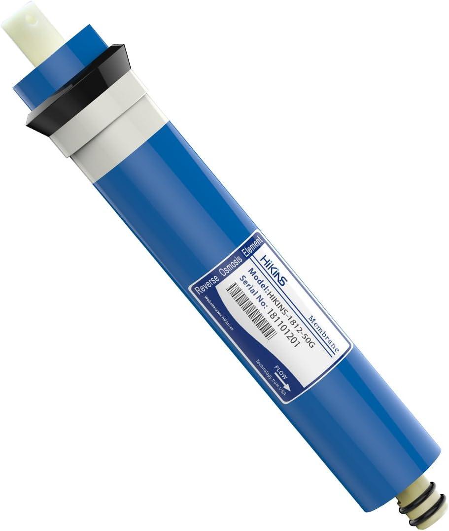 HiKiNS 1812 – 50 GPD RO ósmosis inversa Membrana hogar purificador de Agua Ro Universal Compatible con Filtro de Repuesto para casa purificador de Agua de ósmosis inversa
