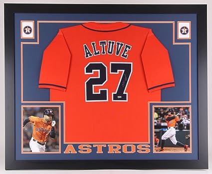 cb25b5b18 Jose Altuve Signed Houston Astros 35x43 Custom Framed Jersey (MLB ...