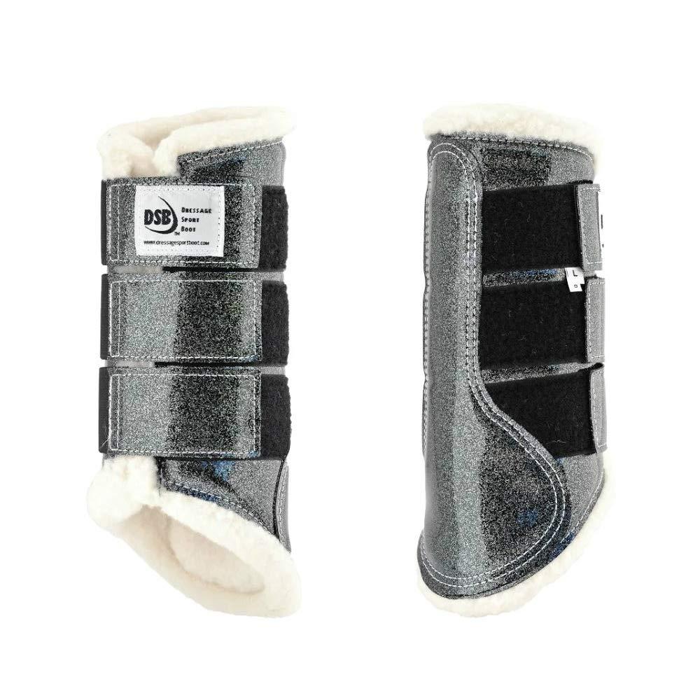 dsb The Glossy Dressage Sport Boot - Grey Glitter (Medium)
