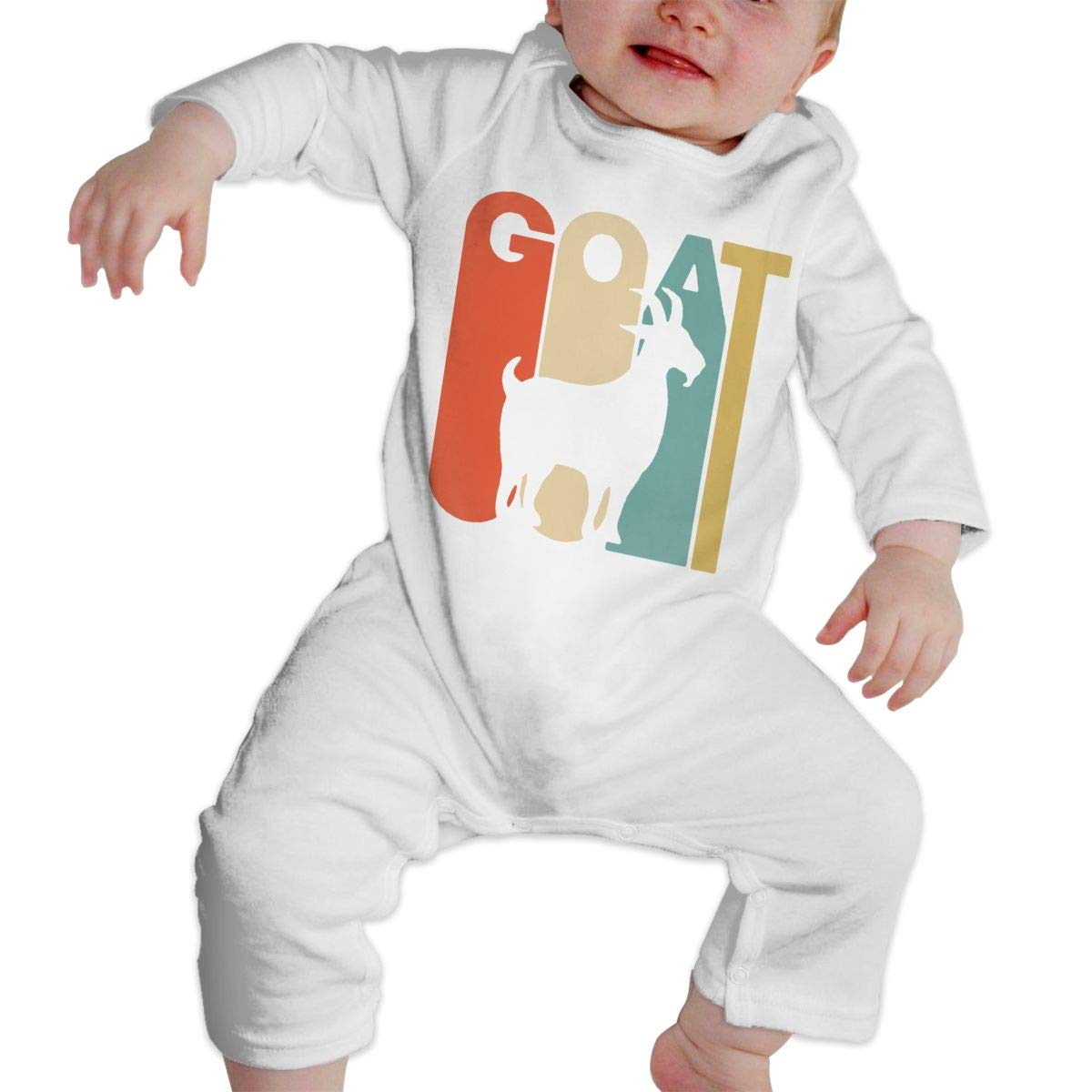 A1BY-5US Baby Infant Toddler Bodysuits Goat Cotton Long Sleeve Baby Clothes