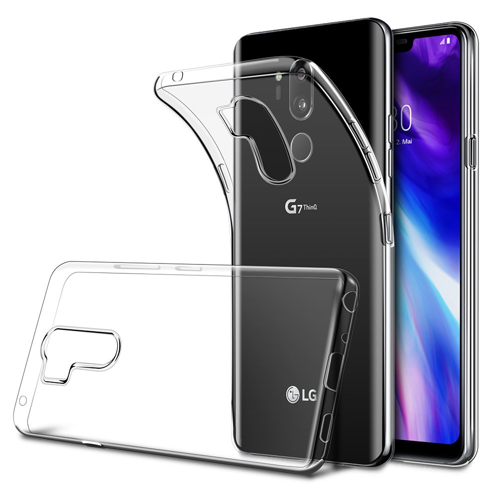 HWeggo LG G7 ThinQ Hü lle Crystal Case Cover Soft Flex Silikon Handyhü lle Ultra Dü nn Weiche TPU Hü llen Kratzfeste Anti-Scratch Bumper Case Schutzhü lle fü r LG G7-Transparent