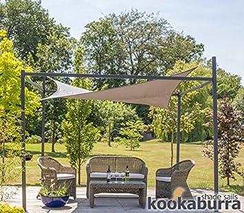 Kookaburra® 3m x 3m Square Charcoal Waterproof Shade Sail With Frame and Fixing Kit & Kookaburra® 3m x 3m Square Charcoal Waterproof Shade Sail With ...