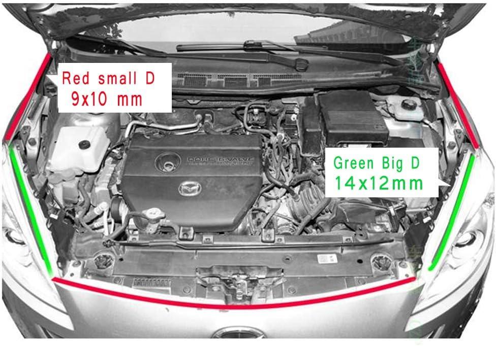 Para coche 5 m cami/ón PVC furgoneta sellado de goma para interior y exterior ventana cap/ó borde de maletero Tira de sellado tipo D de goma//caucho y cloruro de polivinilo