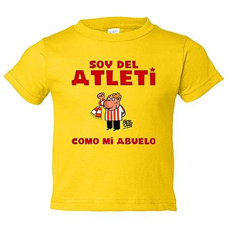 Camiseta niño Atlético de Madrid soy del atleti como mi abuelo - Amarillo ac54634c83e3a