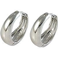 MEENAZ Mens Jewellery Kaju Bali Salman Khan Style Silver Hoop Earrings for Men Boys Man Unisex Ear Rings BALI-102 (Silver, Silver Plated)