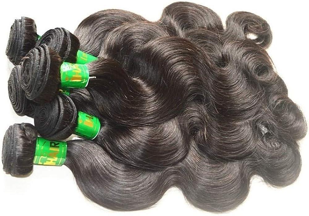 赤いドラゴン ウィッグ,10バンドル インディアンヘア ウェーブ バージンヘア/レミーヘア 人毛エクステンション ナチュラルカラー 人間の髪織り ソフト/滑らか 人間の髪の拡張機能 女性用
