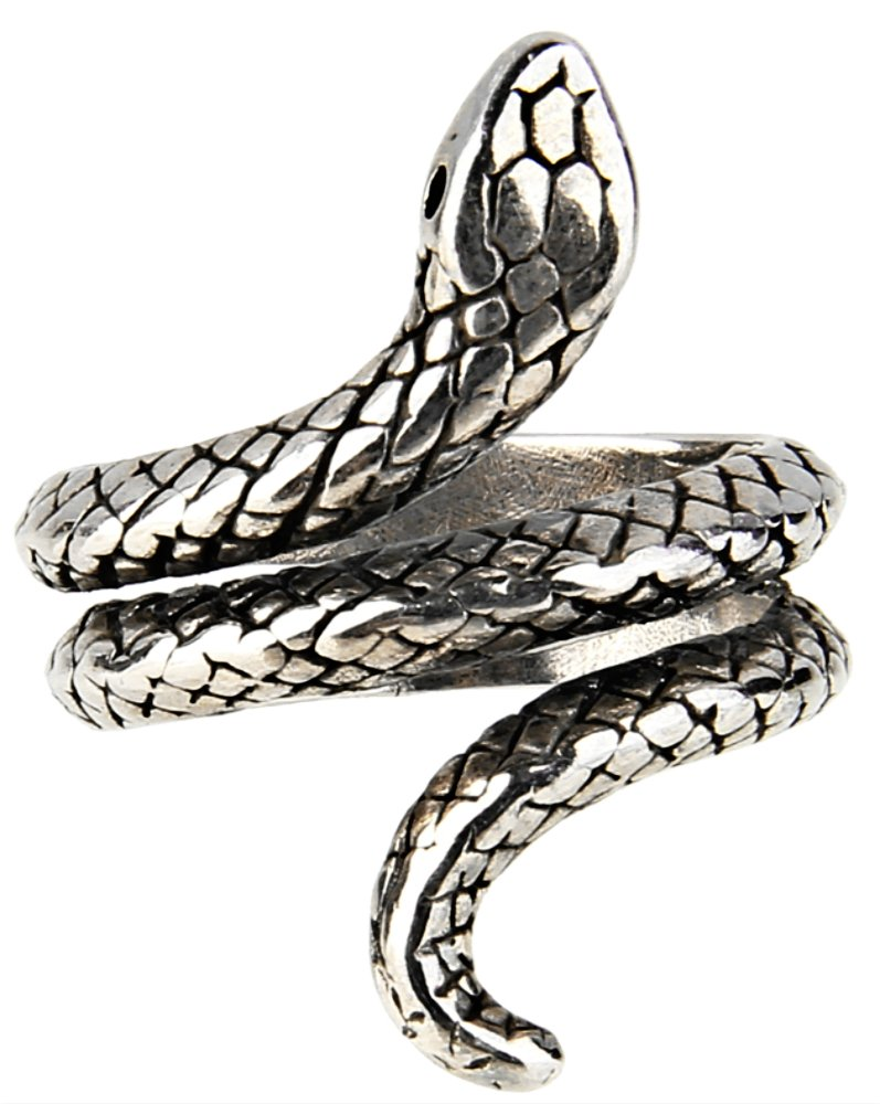 Bewish Retro Adjustable Gothic Punk Rock Stainless Steel Snake Venom Coil/Octopus Tentacle Squid Kraken Nyarlathotep/Gragon Open Ring Men Cocktail JE00006