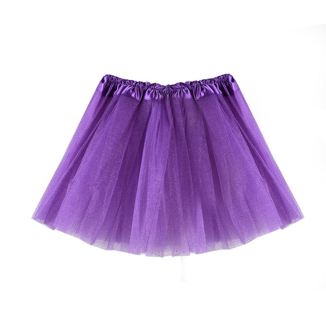 Inkach Baby Girls Tutu Skirt - Fancy Toddler Kids Dance Ballet Skirts Fluffy Tulle Petticoat Shorts (Purple)