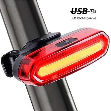 WDMBM Recargable LED USB COB Bicicleta de montaña Luz Trasera Luz Trasera MTB Advertencia Advertencia Luz Trasera de Bicicleta: Amazon.es: Deportes y aire libre
