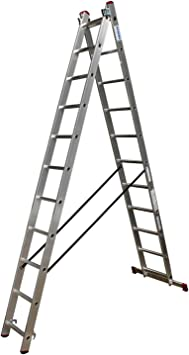 Krause – corda Escalera multiusos de aluminio 2 x 8 o 2 x 11 peldaños DIN EN 131 – 1 Travesaños, número: 2 x 11 peldaños: Amazon.es: Bricolaje y herramientas