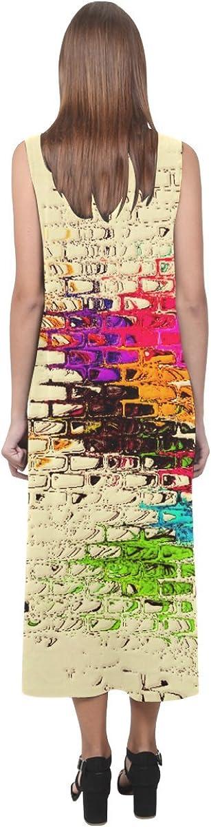 JC-Dress Sleeveless Dress Textured By Artdream Party Beach Open Fork Long Dress