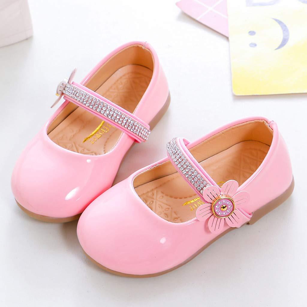 Elegantes Zapatillas de Piel para ni/ña Bodas Flores Planas para Princesa Liligood para Fiestas