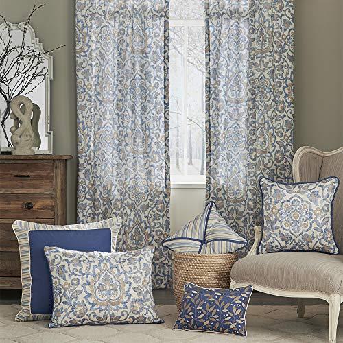 Croscill Janine Square Pillow, Blue