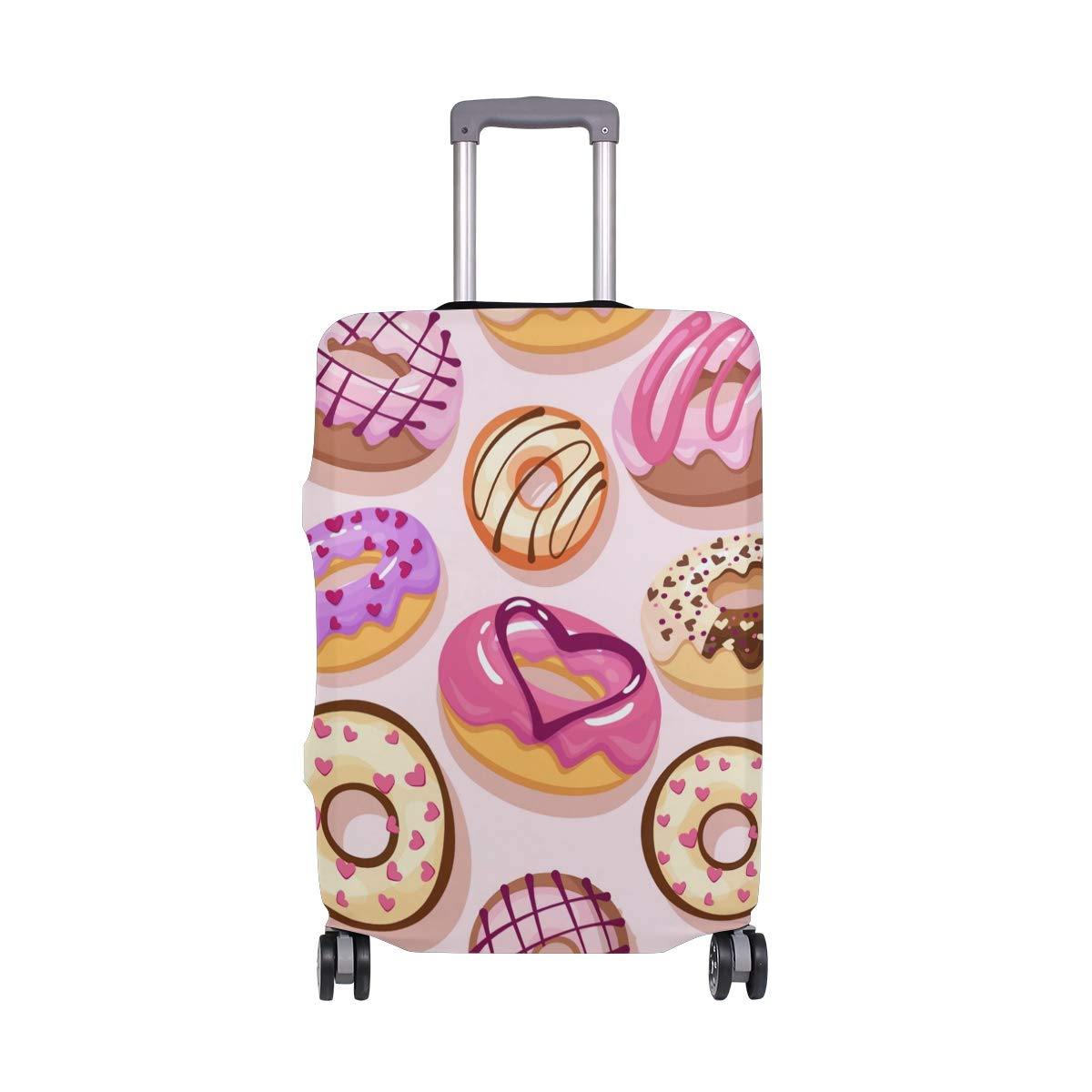 Baggage Covers Yummy Donut Pink Cake Cream Washable Protective Case