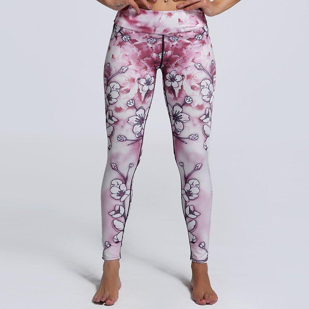 MAOYYMYJK Yoga-Hose Für Damen Outdoor Sport Digitaldruck Schlank Neun Punkte Yoga Leggings 0130
