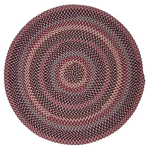 Boston Common Polypropylene Braided Round Rug, 12-Feet, Brick Marketplace