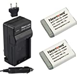 Newmowa NB-13L Battery (2 pack) and Charger for Canon NB-13L, PowerShot G5X ,PowerShot G7X and PowerShot G9X