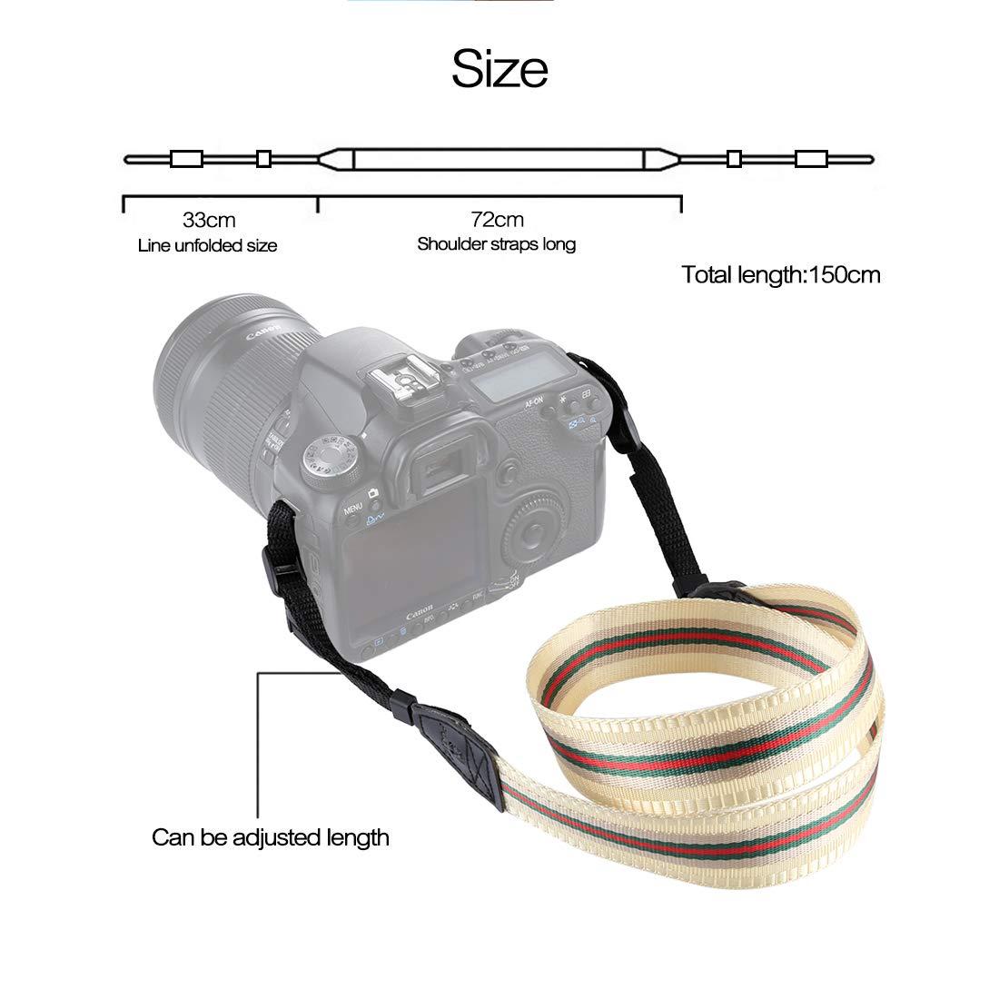 BYbrutek Kameragurt für DSLRs, Weich Kamera Schultergurt (universal passend), 150cm Long, 3.8cm Wide (6010Q)