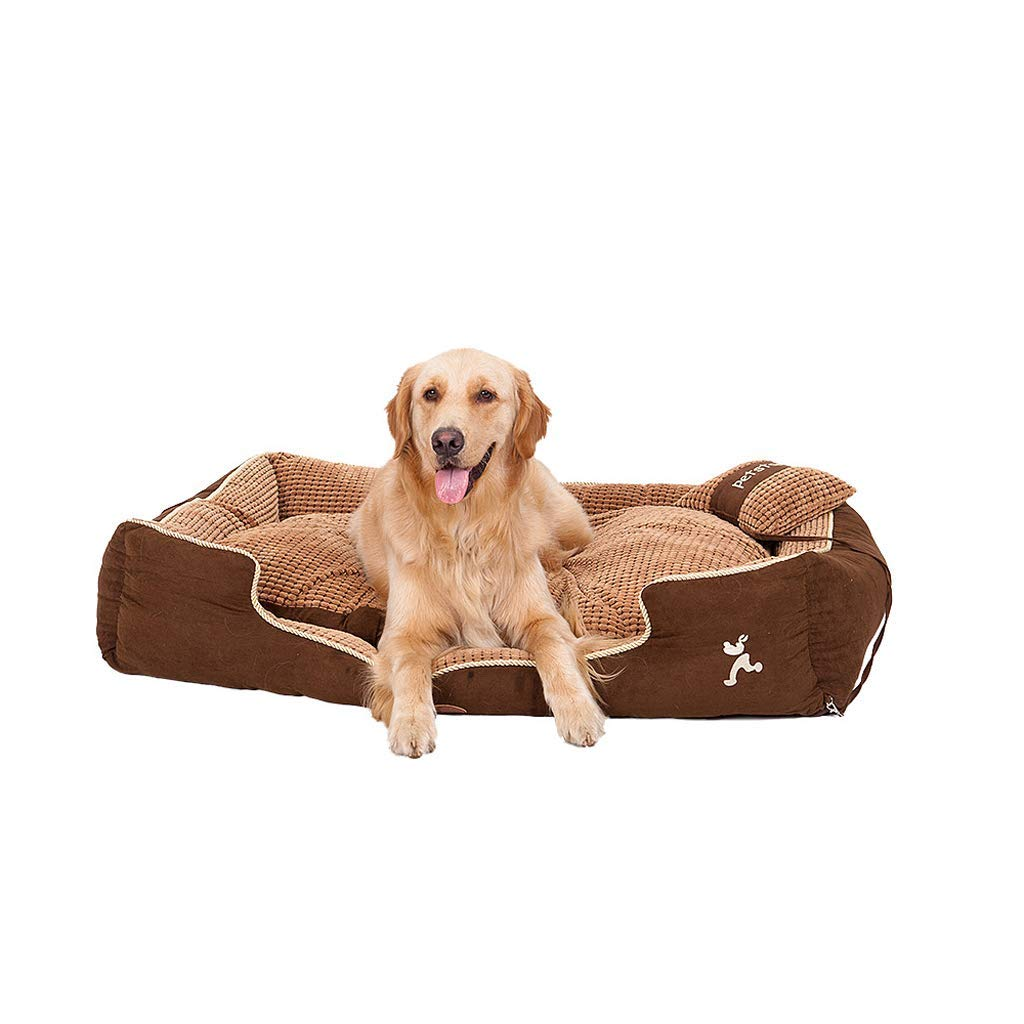 L KYCD Dog Kennel,cat Nest Soft And Comfortable Pet Nest Autumn And Winter Warm Pet Bed Removable And Washable (Size   L)
