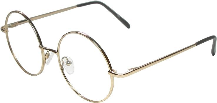 b0d8295b8e5a Full Rim Metal Round Eyeglasses Frame (Large Size) - Gold. Full Rim Metal  Round Eyeglasses Frame (Large Size) ...