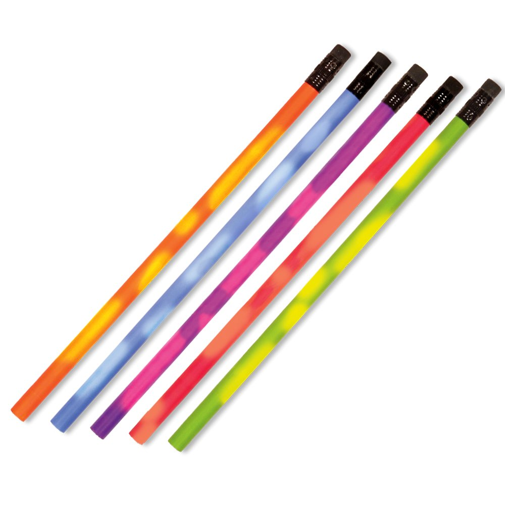 Color Changing Mood Pencil with Eraser, Set of 24, Assorted Colors