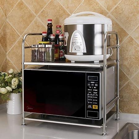 Estante de horno para microondas, 2 estantes, de metal, para ...