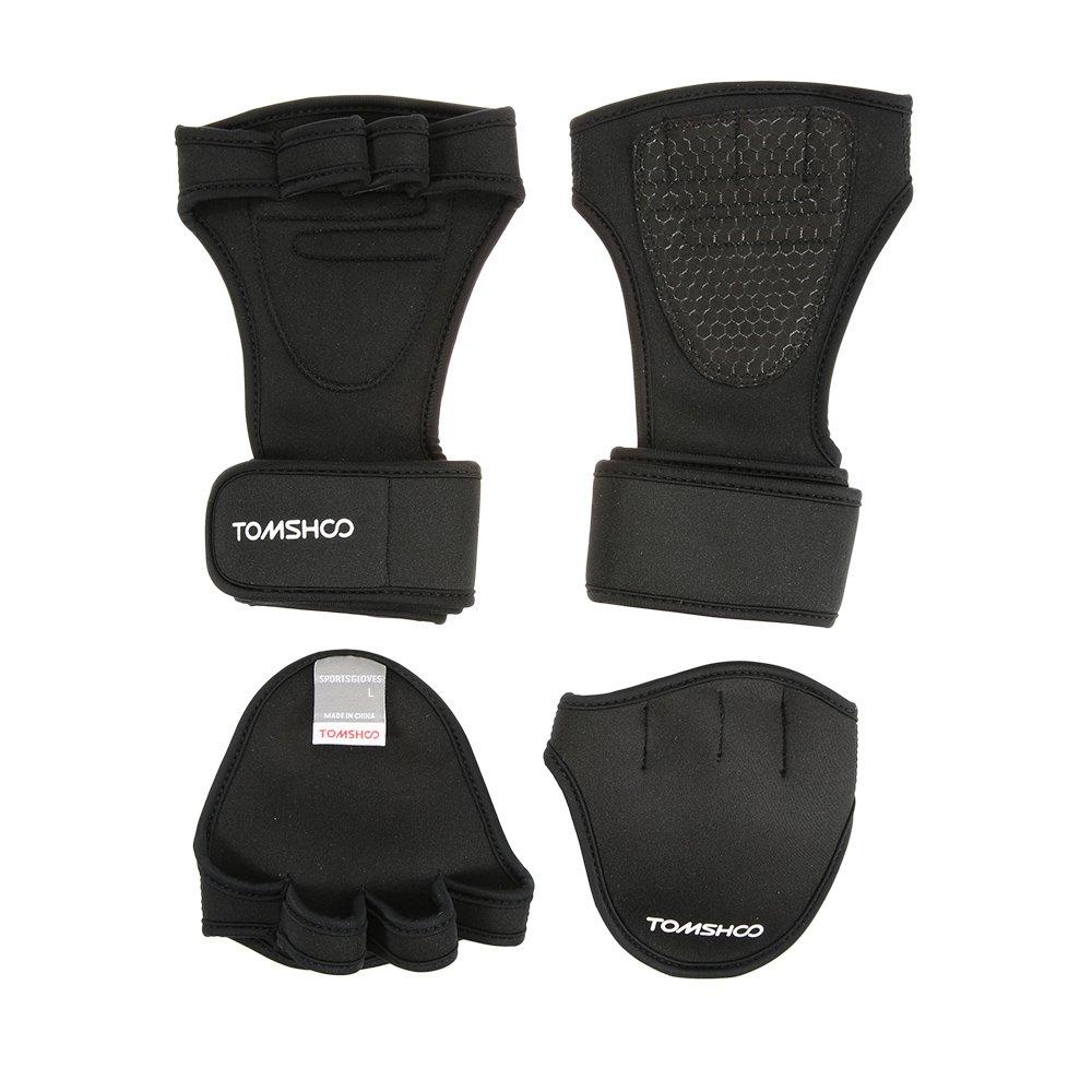 tomshoo - Guantes de entrenamiento con soporte muñequera para ...