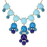 Merdia bulles dégradé de couleur f collier de perles pour femmes