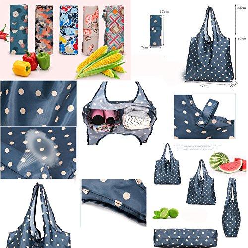 Satz von 3 tragbaren Einkaufstaschen zusammenklappbar wiederverwendbare Einkaufstüten