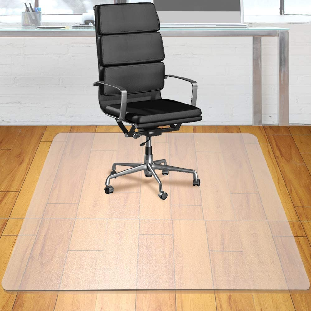"Heavy Duty Office Chair Mat, 48"" x 36"", Polycarbonate Chair Mat Protector, Uncrackable Office Chair Floor Protector Mat for Hardwood Floors, Rectangular, Matte Finish"