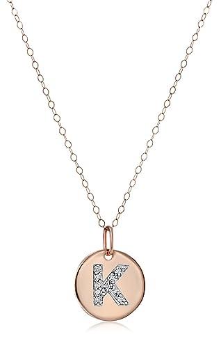 Diamond Accent Initial Pendant Necklace