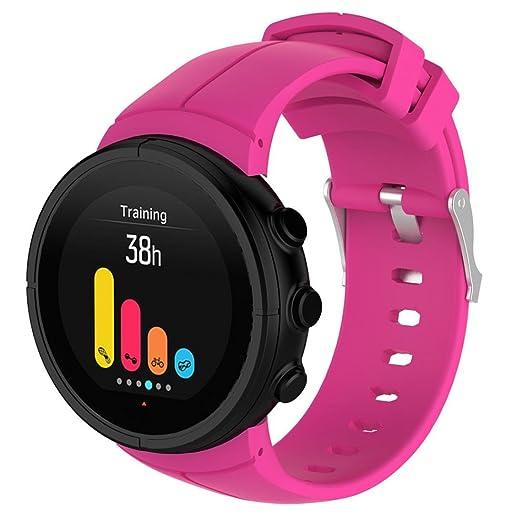 MYQyiyi Correa de lujo para reloj de goma con correa de repuesto para Suunto Spartan ULTRA Watch: Amazon.es: Relojes