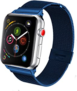 SPINYE Bands Compatible with iWatch 38mm 42mm 40mm 44mm, Stainless Steel Metal Mesh Replacement Strap for Apple Watch Series 5/4 / 3 Women Men (42/44mm)