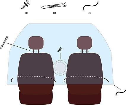 Olmedo Servicios Integrales Pantalla separadora Personalizada para el Modelo de Coche Toyota Prius Plus - Barrera Separadora Entre Asientos - Valla Divisoria para Ocupantes: Amazon.es: Productos para mascotas
