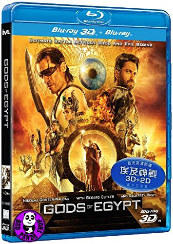 Gods Of Egypt 2D +3D (Region A Blu-Ray) (Hong Kong Version) Chinese subtitled