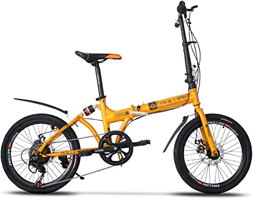 Paseo Bicicleta Plegable Bicicleta portátil Amortiguador Sistema ...