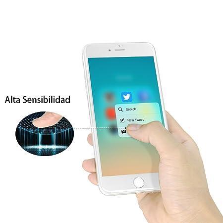 cristal templado iphone 7 plus,MORECOO 3D Protector de pantalla de cristal para iPhone 7 plus (iPhone 7 plus, Blanco): Amazon.es: Electrónica