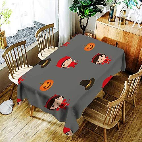 AGONIU Spill-Proof Table Cover,Halloween Pattern Kid Costume Pattern,Modern Minimalist,W60X102L]()