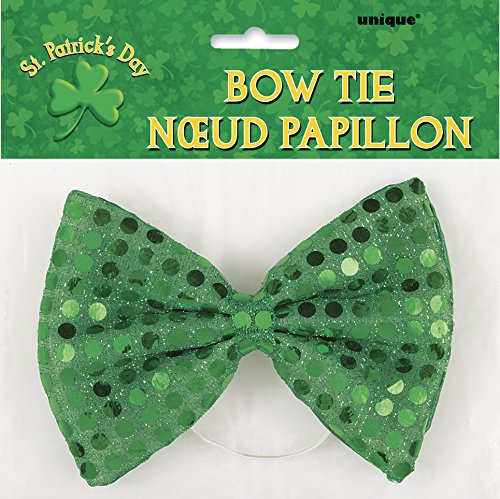Saint Patrick's Day Green Sequin Bow Tie - Ideas For A Group Halloween Costumes
