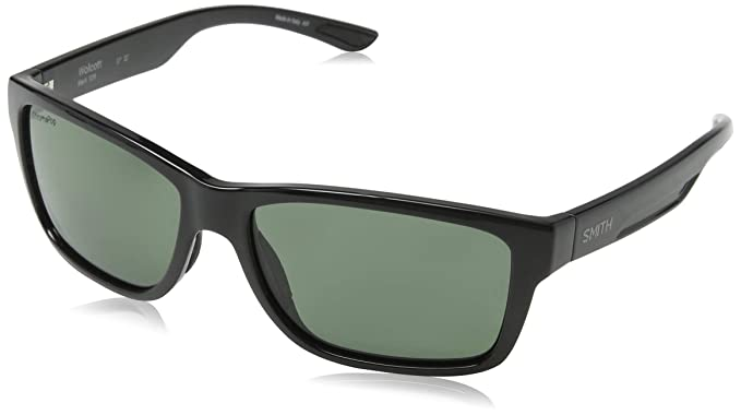 545f0c6ddfb Image Unavailable. Image not available for. Colour  Smith WOLCOTT Black ChromaPop  Polarized Grey Green Sunglasses