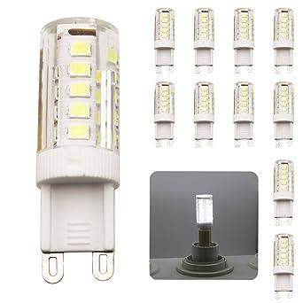 10 Piezas G9 bombillas LED de color blanco frío, 33 SMD 2835 LED ahorro de
