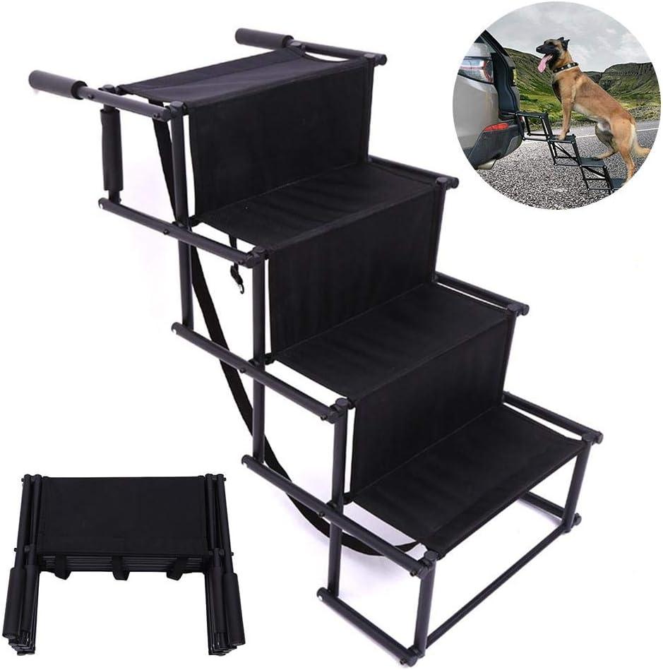 precauti Car Dog Steps Pet Stairs Duty Lightweight Foldable Pet Dog Access Steps Ramp for High Beds Trucks Cars