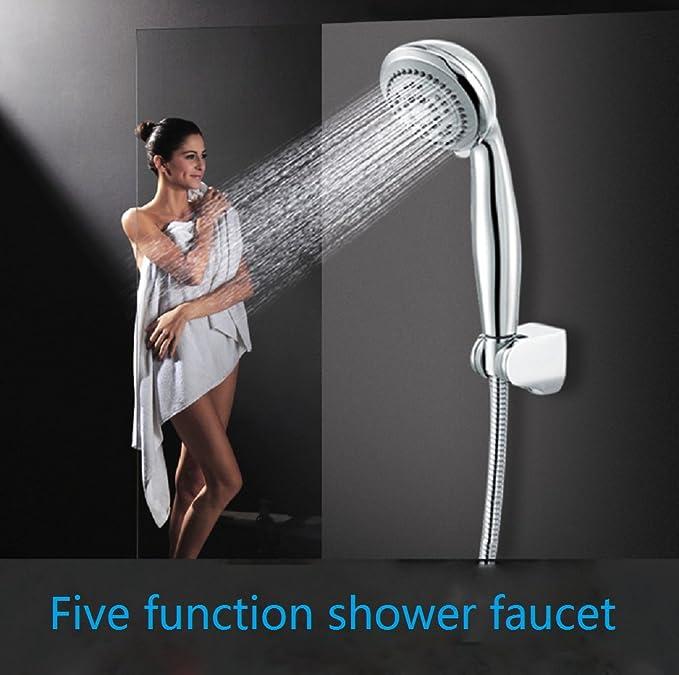 Amazon.com: Ducha de mano Ducha 5-Cabeza ajustable de la ducha de la velocidad Cabezal de ducha de cinco funciones-C: Home Improvement