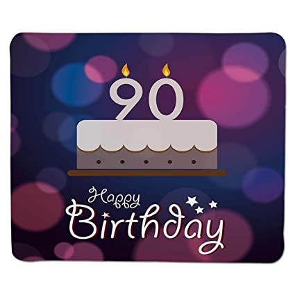 Mouse Pad Unique Custom Printed Mousepad 90th Birthday DecorationsDreamy Layout With Color Spots
