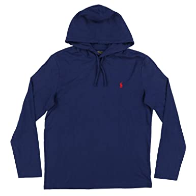 0a5f0eb99 Image Unavailable. Image not available for. Color: Polo Ralph Lauren Mens  Jersey Knit Hoodie Tee ...