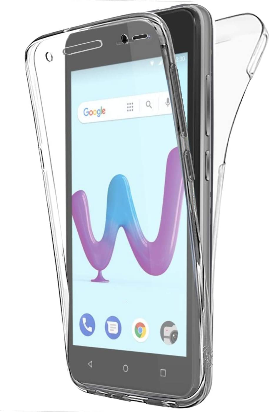 Coque Gel Wiko Sunny 3, Buyus Coque 360 Degres Protection Integral Anti Choc, Etui Ultra Mince Transparent Invisible pour Wiko Sunny 3, Coque Wiko ...