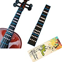 FineFun Violin Finger Guide/Fingerboard Sticker guide Label Finger Chart For Size 4/4,3/4,2/1,4/1,8/1,10/1 (4/4)