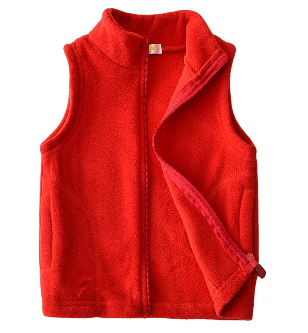 Dalary Baby Boys&Girls Polar Fleece Sleeveless Jacket Outerwear Vests Three Babies_356