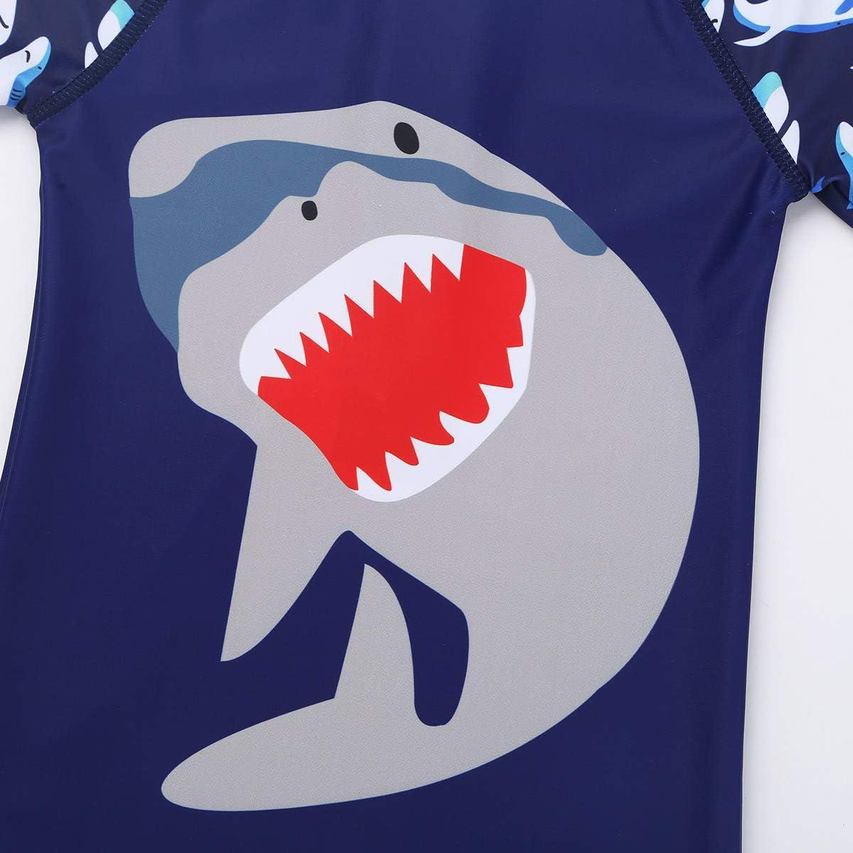 Alvivi Enfants B/éb/é Gar/çons Combinaison de Natation Requins Maillot de Bain de Plong/ée Protection Anti-UV et Contre Le Soleil avec Bonnet de Bain 18 Mois-6 Ans